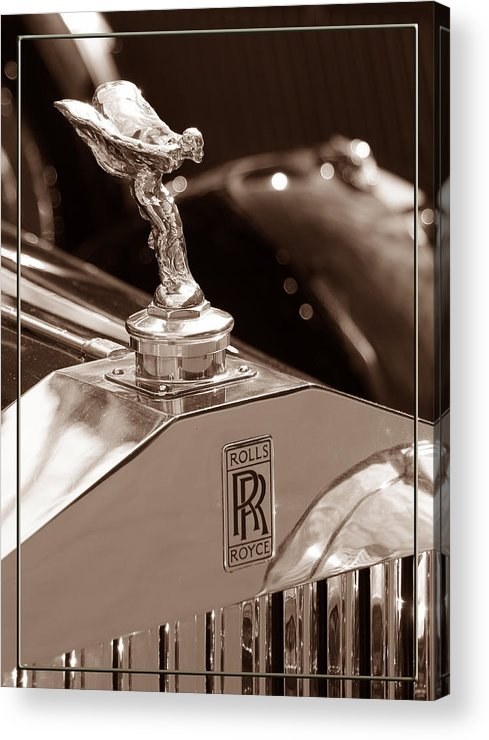 Rolls Acrylic Print featuring the photograph Vintage Rolls Royce 1 by Andrew Fare