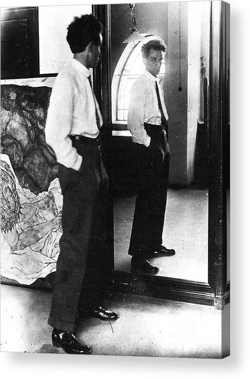 1915 Acrylic Print featuring the photograph Egon Schiele (1890-1918) by Granger