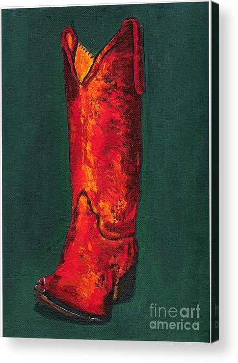 Boots Acrylic Print featuring the painting Singled Out by Frances Marino