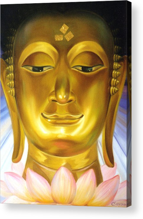 Oil Acrylic Print featuring the painting Virtue by Chonkhet Phanwichien