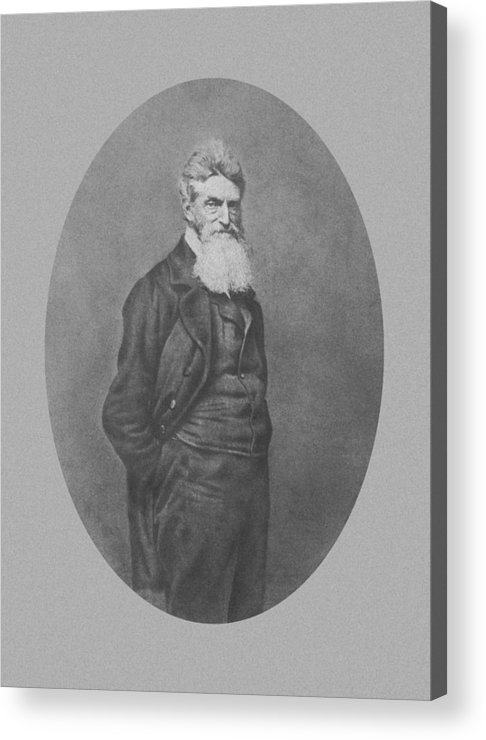 John Brown Acrylic Print featuring the photograph Abolitionist John Brown by War Is Hell Store