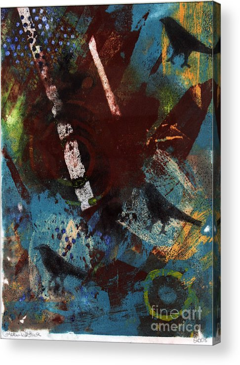 Bird Acrylic Print featuring the painting Abstract Birds by Robin DeLisle