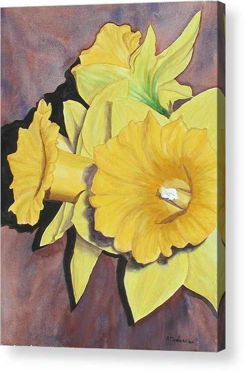 Fine Art Acrylic Print featuring the painting After The Tulips by Robert Thomaston