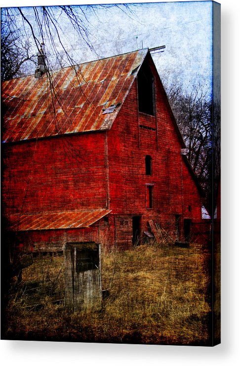 Barn Acrylic Print featuring the photograph Almost Gone by Julie Lueders