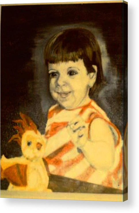 Portrait Child Angel Acrylic Print featuring the painting An Angel From Heaven by Alfred P Verhoeven