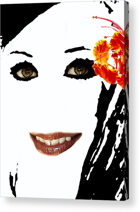 Portrait Acrylic Print featuring the photograph Angel Eyes by James Granberry