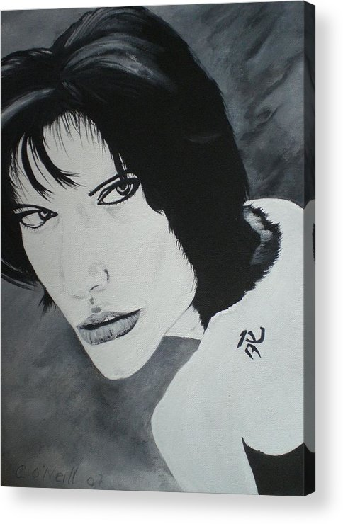Angelina Acrylic Print featuring the painting Angelina by Colin O neill