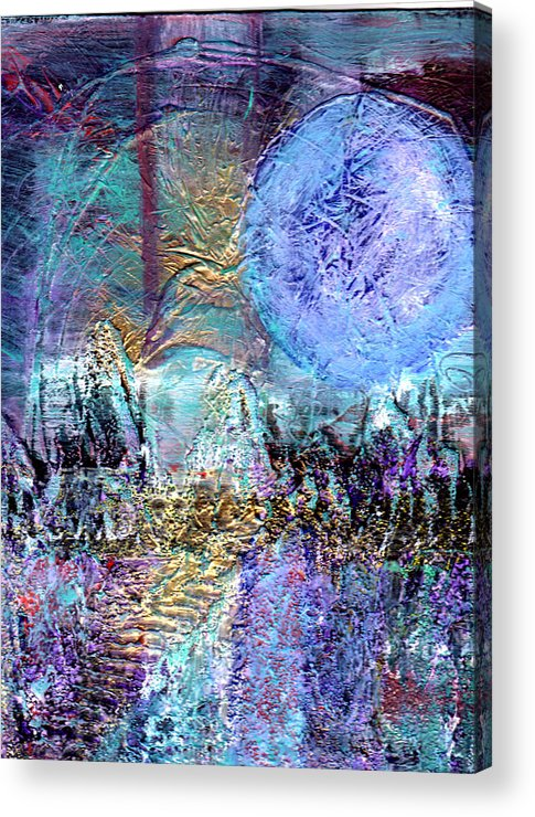 Surreal Acrylic Print featuring the painting Another World by Wayne Potrafka