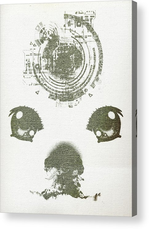 Atomic Acrylic Print featuring the digital art Atomic Dog's Eyes by Andrea Barbieri