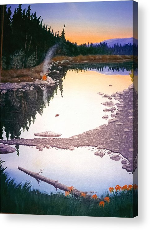 Nature Acrylic Print featuring the painting Beaver Creek by Arnold Isbister
