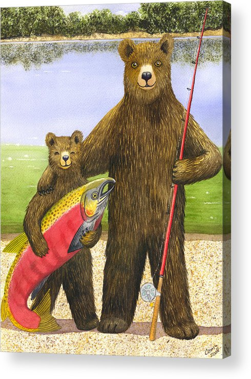 Bear Acrylic Print featuring the painting Big Fish by Catherine G McElroy