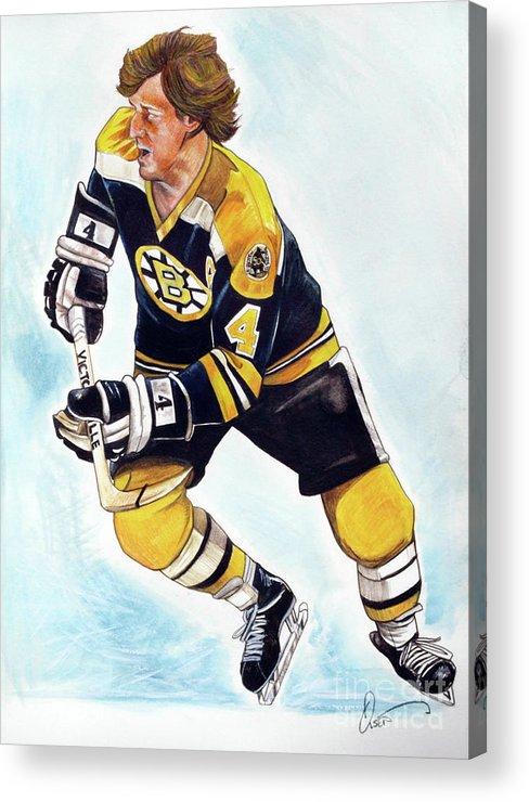 Bobby Orr Acrylic Print featuring the painting Bobby Orr by Dave Olsen