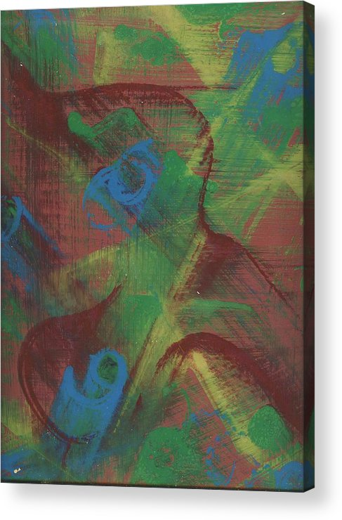 Abstract Acrylic Print featuring the painting Body Fusion by Cathy Minerva