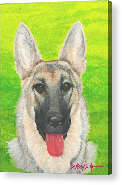 Dog Acrylic Print featuring the painting Bouncer by Howard Dubois