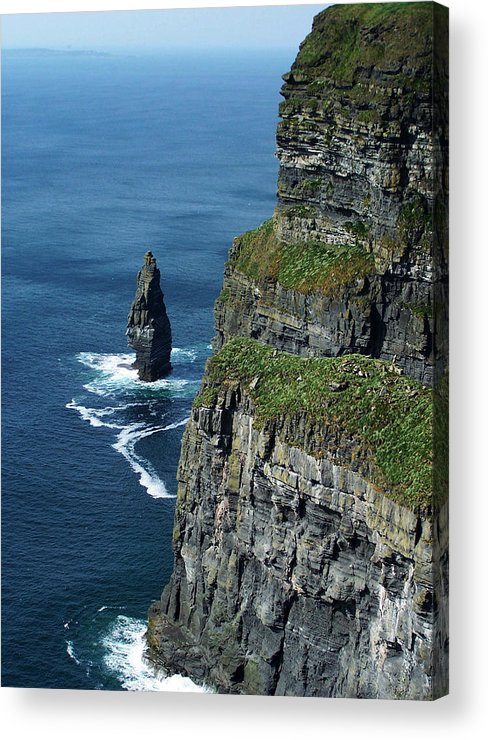 Irish Acrylic Print featuring the photograph Brananmore Cliffs Of Moher Ireland by Teresa Mucha