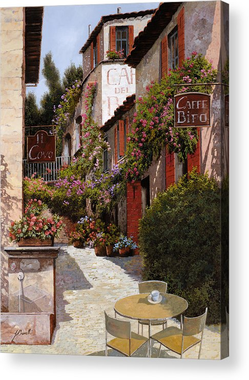 Cafe Acrylic Print featuring the painting Cafe Bifo by Guido Borelli