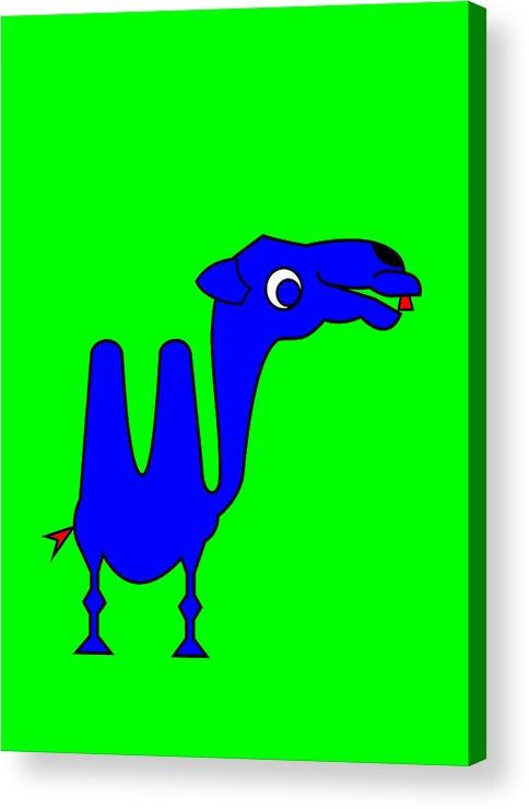 Camel Acrylic Print featuring the digital art Camel by Asbjorn Lonvig