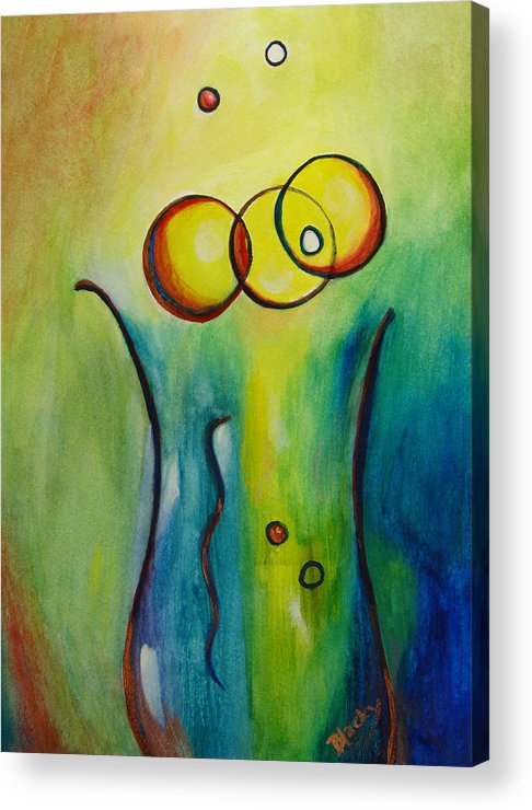 Abstract Acrylic Print featuring the painting Champagne by Donna Blackhall