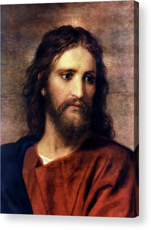 Jesus Prints Acrylic Print featuring the painting Christ At 33 by Heinrich Hofmann