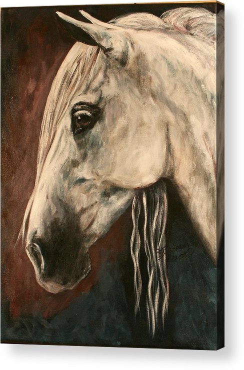 Horse Acrylic Print featuring the painting Chroma by BJ Redmond