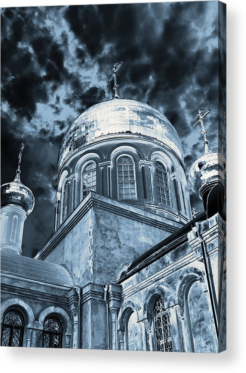 Architecture Acrylic Print featuring the photograph Church2 by Svetlana Sewell