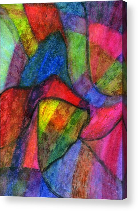 Creative Passages Acrylic Print featuring the drawing Colorful Refractions by Cassandra Donnelly
