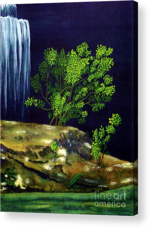 Fine Art Acrylic Print featuring the painting Dark Waters by Patricia Griffin Brett