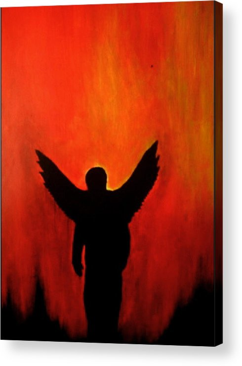 Literary Acrylic Print featuring the painting Demian by Jeff DOttavio