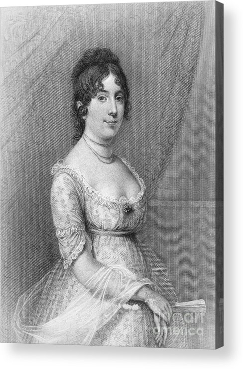 19th Century Acrylic Print featuring the photograph Dolley Madison (1768-1849) by Granger