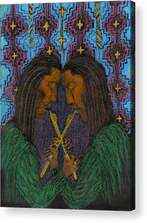 Music From The Soul Acrylic Print featuring the painting Duo Gebo by Ingrid Szabo