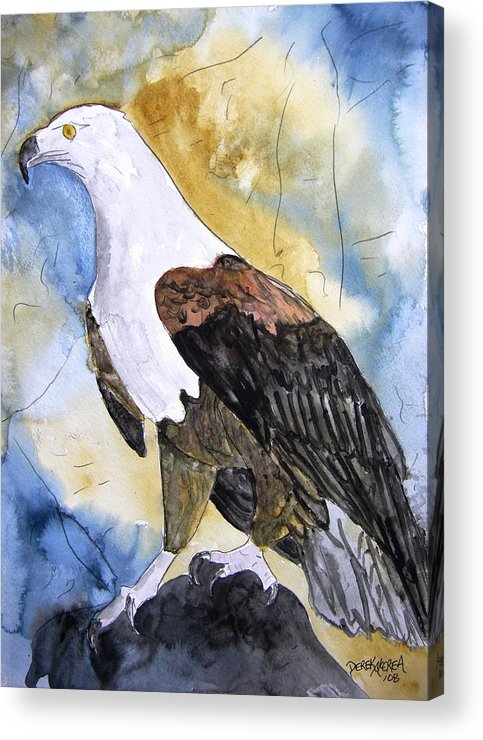 Realistic Acrylic Print featuring the painting Eagle by Derek Mccrea