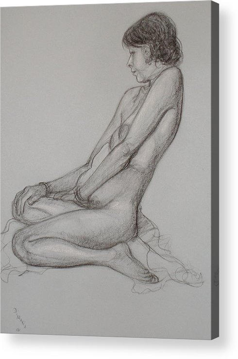 Realism Acrylic Print featuring the drawing English Model by Donelli DiMaria