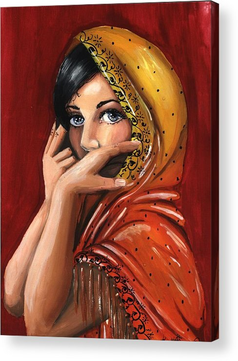 Warm Colors Acrylic Print featuring the painting Eyes by Scarlett Royal