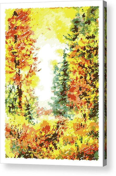 Fall Acrylic Print featuring the digital art Fall by Irina Sztukowski