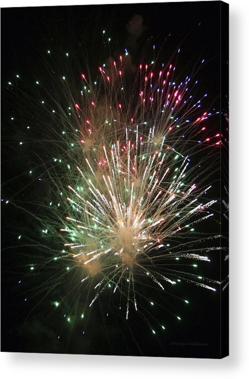 Fireworks Acrylic Print featuring the photograph Fireworks by Margie Wildblood