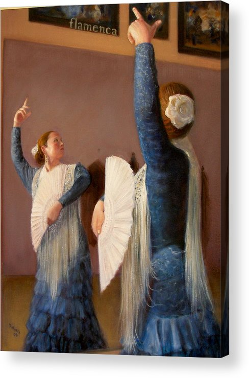 Realism Acrylic Print featuring the painting Flamenco 6 by Donelli DiMaria