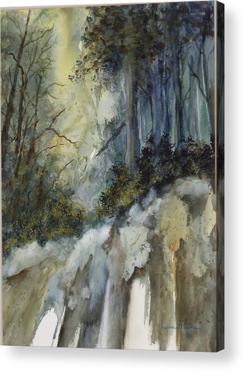 Secenic Forest Acrylic Print featuring the painting Forest Unknown by Lynne Parker