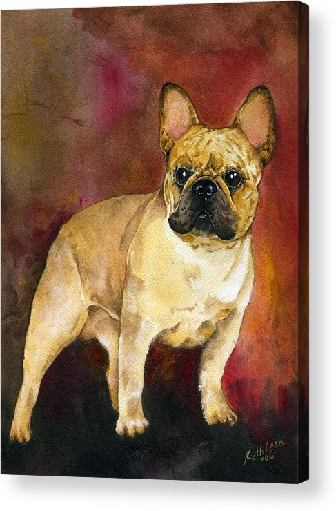 French Bulldog Acrylic Print featuring the painting French Bulldog by Kathleen Sepulveda