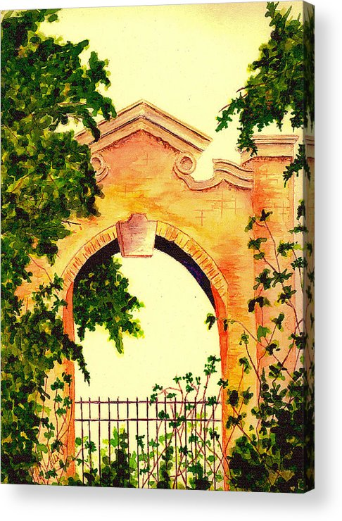 Garden Acrylic Print featuring the painting Garden Scene by Michael Vigliotti