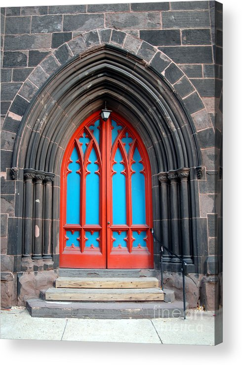 Architecture Acrylic Print featuring the photograph Gothic Church Door by Walter Oliver Neal