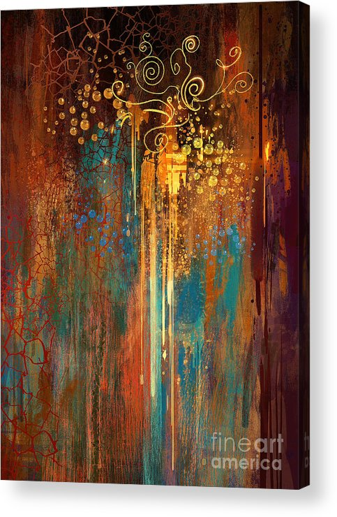 Art Acrylic Print featuring the painting Growth by Tithi Luadthong