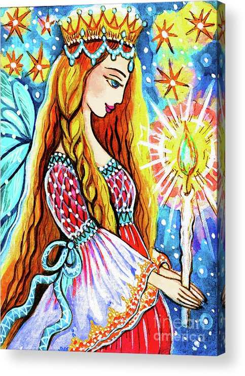 Pregnant Mother Acrylic Print featuring the painting Guardian Mother Of Life by Eva Campbell