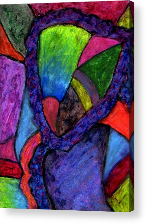 Oil Pastel Acrylic Print featuring the digital art Held Together by Cassandra Donnelly