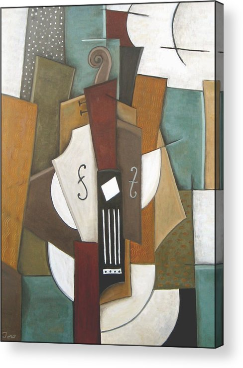 Cubism Acrylic Print featuring the painting Impromptu by Trish Toro