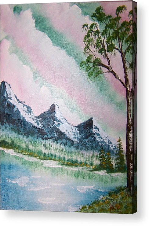 Lake Acrylic Print featuring the painting Infinity by Laurie Kidd