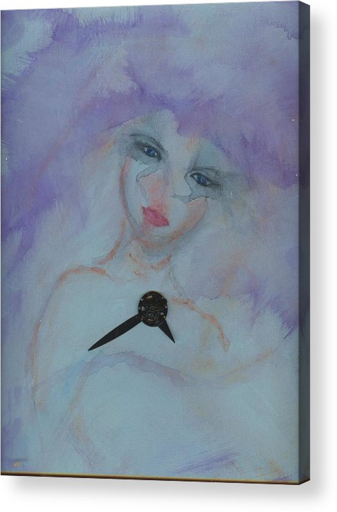 Insomnia Acrylic Print featuring the painting Insomnia by Cathy Minerva