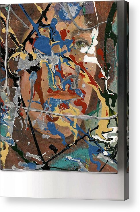 Abstract Portrait Acrylic Print featuring the painting Into Abstraction by Gene Garrison