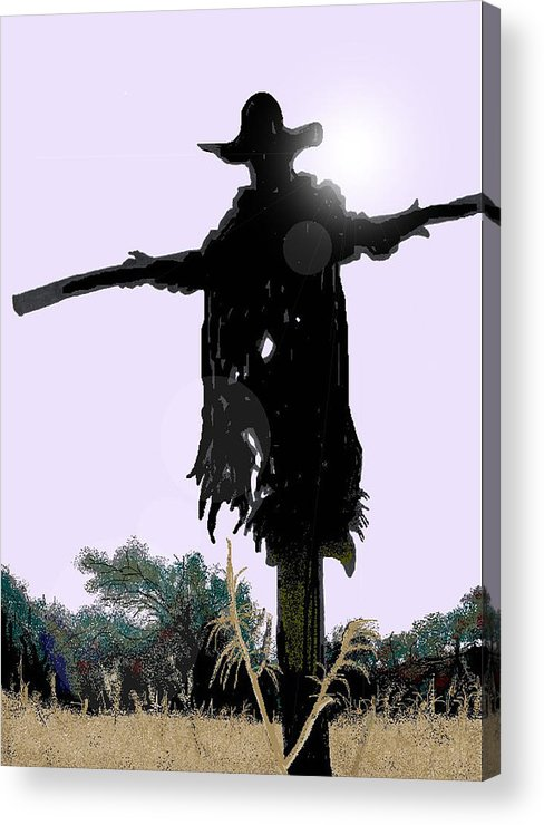 Jeepers Creepers Acrylic Print featuring the digital art Jeepers Creepers by Kim Souza