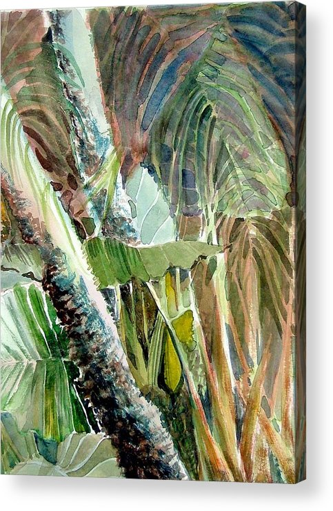 Palm Tree Acrylic Print featuring the painting Jungle Light by Mindy Newman