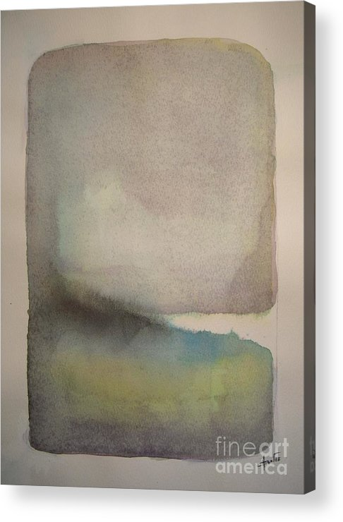 Abstract Acrylic Print featuring the painting Lake Dayspring by Vesna Antic